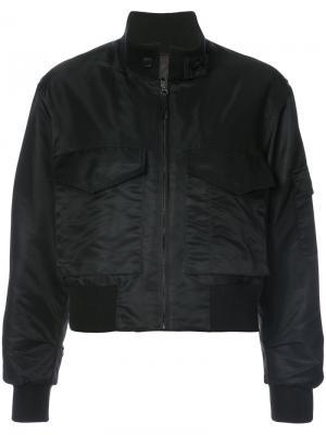 Куртка-бомбер с передним карманом Nili Lotan. Цвет: чёрный
