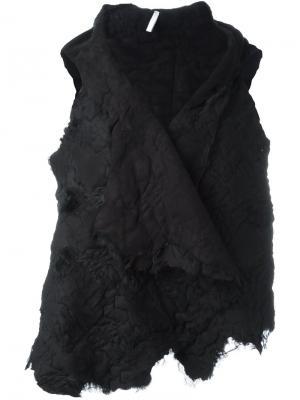 Жилет с необработанными краями Cutuli Cult. Цвет: чёрный