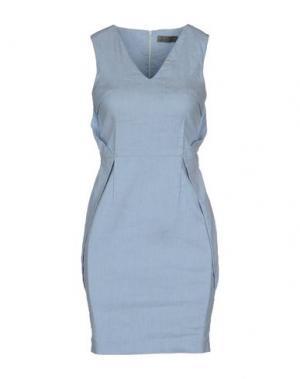 Короткое платье MAURO GASPERI. Цвет: небесно-голубой