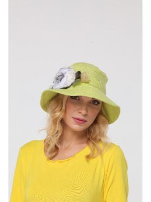 Шляпа Lak Miss. Цвет: салатовый, белый