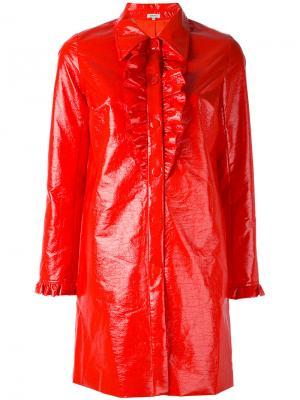 Пальто с оборкой Manoush. Цвет: красный