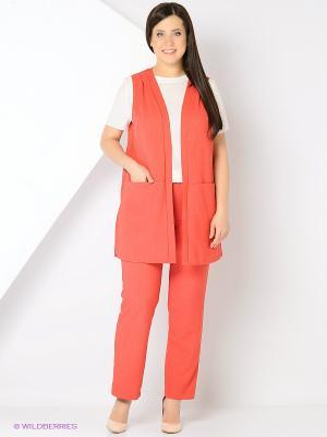 Брюки Milana Style. Цвет: красный