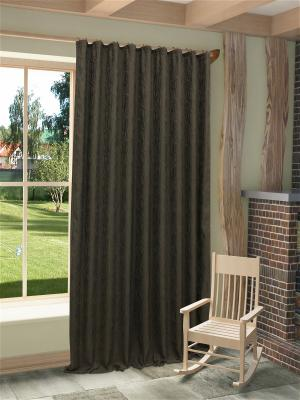 Готовая штора Этна SANPA HOME COLLECTION. Цвет: темно-серый