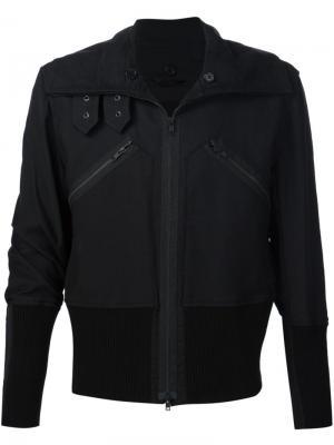 Байкерская куртка Ann Demeulemeester. Цвет: чёрный