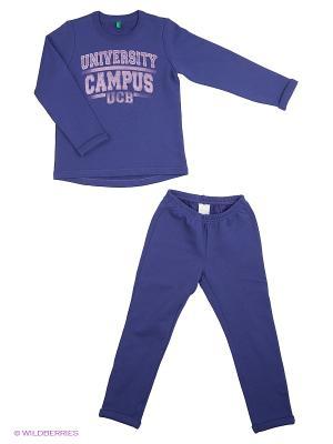 Свитер, брюки United Colors of Benetton. Цвет: темно-фиолетовый