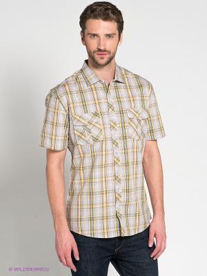 Рубашка Maestro. Цвет: серый, темно-серый, желтый