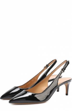 Лаковые туфли Ellun с ремешком Bally. Цвет: черный