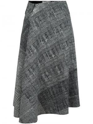 Драпированная юбка в клетку Jason Wu. Цвет: чёрный