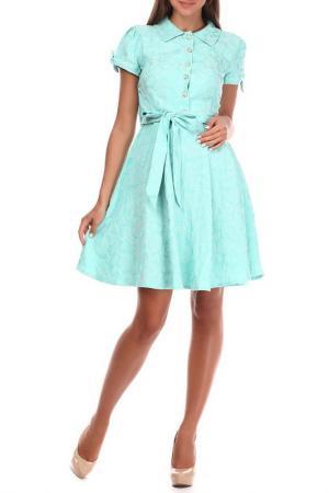 Платье Sassofono. Цвет: зеленый