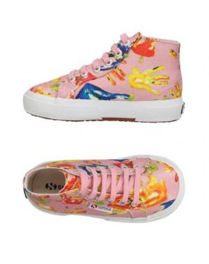 Высокие кеды и кроссовки SUPERGA®. Цвет: розовый