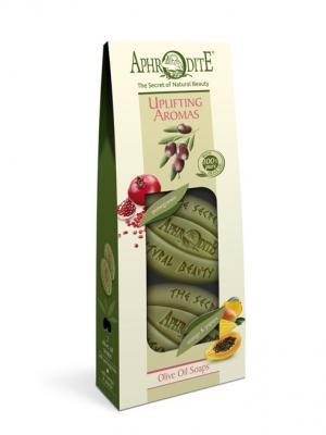 Набор мыла оливкового Бодрящие ароматы Aphrodite. Цвет: оливковый