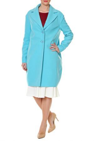 Пальто SWEETME TM. Цвет: голубой