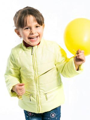 Куртка Слава Аксарт. Цвет: светло-желтый