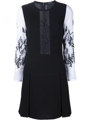 Платье с прозрачной панелью и вышивкой Yigal Azrouel. Цвет: чёрный