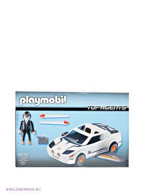 Игровой набор Супер гонщик Playmobil. Цвет: голубой