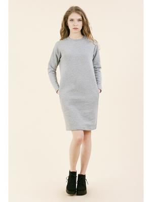 Платье-свитшот утепленное серое (KW3) (M (44-46)) MONOROOM