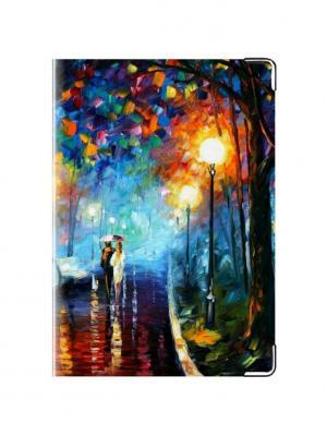 Обложка для паспорта Ночная Прогулка Tina Bolotina. Цвет: синий, голубой, оранжевый