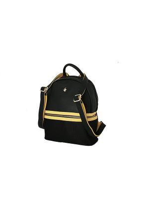 Рюкзак Beverly Hills Polo Club. Цвет: черный, светло-желтый