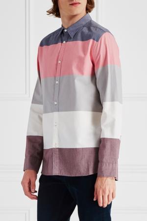 Рубашка с цветовыми блоками Edun. Цвет: мультиколор