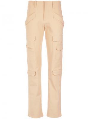 Cargo trousers Gloria Coelho. Цвет: телесный