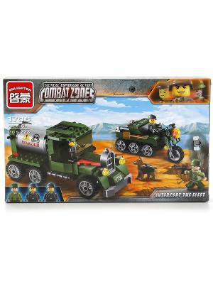 Конструктор пластиковый  Военная машина с фигурками, 223детали. ENLIGHTEN. Цвет: зеленый, желтый