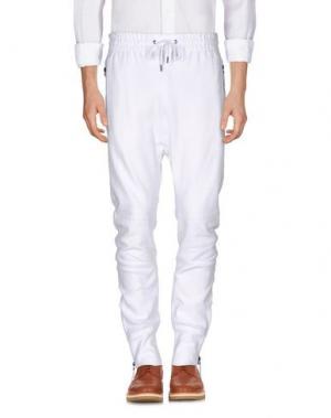 Повседневные брюки HELMUT LANG. Цвет: белый