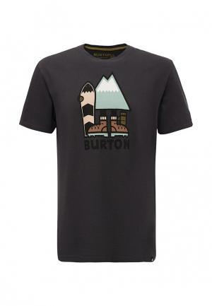 Футболка Burton. Цвет: черный