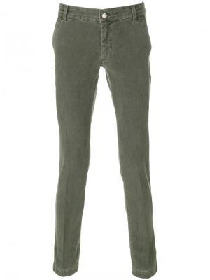 Slim fit trousers Entre Amis. Цвет: зелёный