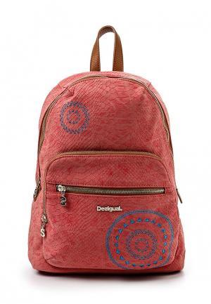 Рюкзак Desigual. Цвет: розовый