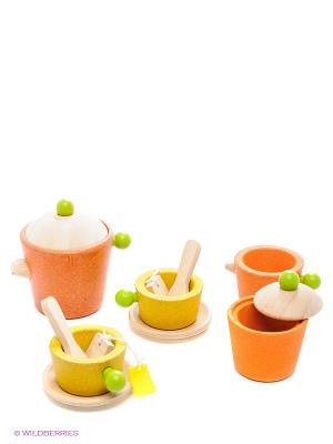 Набор для чаепития PLAN TOYS. Цвет: терракотовый
