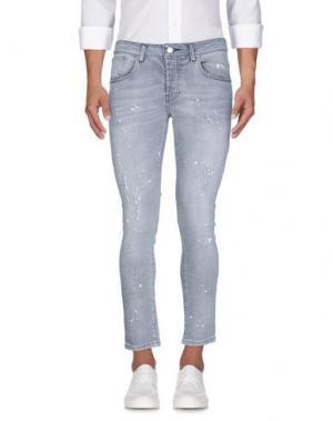 Джинсовые брюки TAKESHY KUROSAWA. Цвет: серый