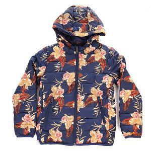 Куртка зимняя детская  Question Printe G Castaway Floral Roxy. Цвет: синий