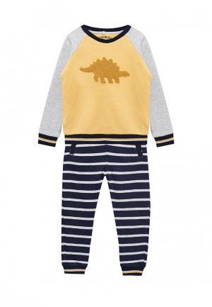 Комплект брюки и свитшот Marks & Spencer. Цвет: разноцветный