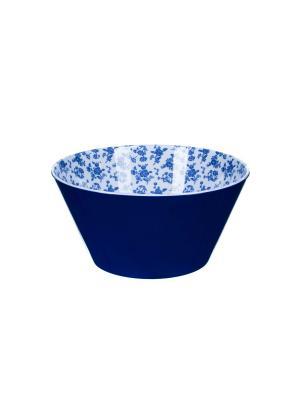 Маленький салатник  d14,5 x 7см, Миндальное печенье Сюзанны Orval. Цвет: синий, белый