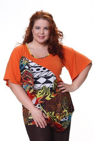 Блузон с широкими рукавами OQueen O'Queen. Цвет: оранжевый