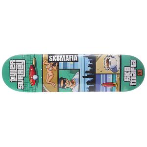 Дека для скейтборда  Surrey Gamer Green 32.12 x 8.19 (20.8 см) Sk8mafia. Цвет: мультиколор