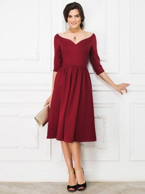 Платье La vida rica. Цвет: бордовый, бежевый