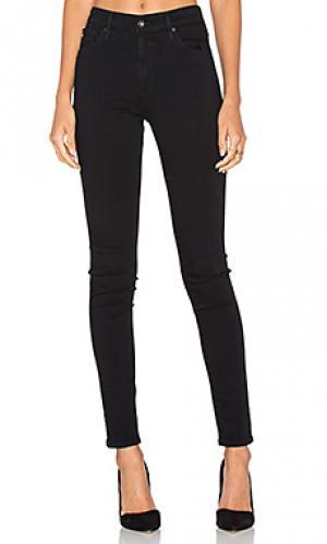 Узкие джинсы farah AG Adriano Goldschmied. Цвет: черный