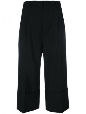 Укороченные широкие брюки Comme Des Garçons Noir Kei Ninomiya. Цвет: чёрный