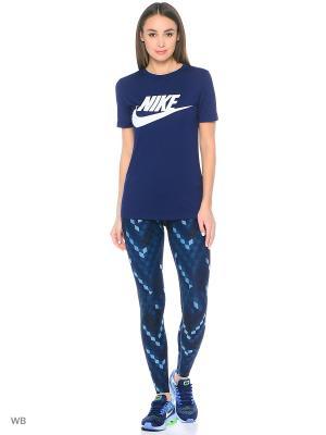 Тайтсы W NK PWR LGND TGHT CB LRG Nike. Цвет: синий