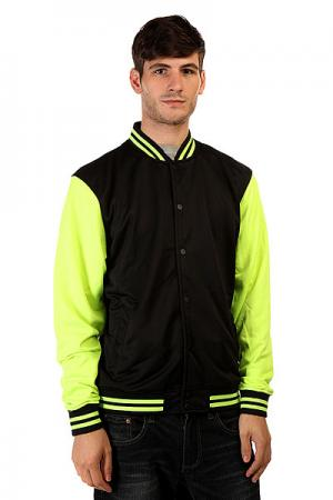 Бомбер  Neon College Black Yellow Urban Classics. Цвет: черный,зеленый