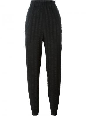 Фактурные брюки Veronique Leroy. Цвет: чёрный