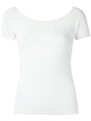 Knit off-the-shoulder top Martha Medeiros. Цвет: белый