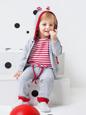 Комплект одежды для малыша NinoMio. Цвет: серый меланж, белый