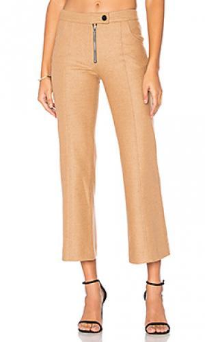 Шерстяные укороченные брюки Frankie. Цвет: цвет загара