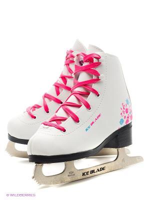 Коньки фигурные ICE BLADE BluePink. Цвет: белый, голубой, розовый