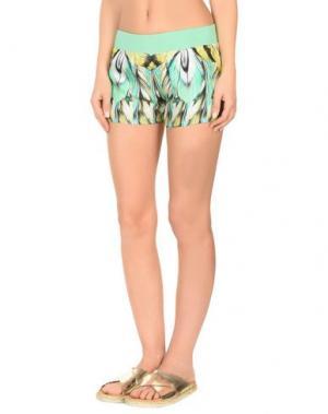 Пляжные брюки и шорты ROBERTO CAVALLI BEACHWEAR. Цвет: светло-зеленый