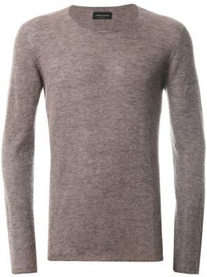 Классический вязаный свитер Roberto Collina. Цвет: розовый и фиолетовый
