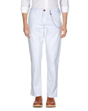 Повседневные брюки WEB. Цвет: белый