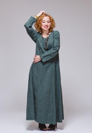 Платье Kayros. Цвет: зеленый